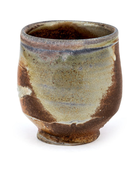 Anagama fired heavy ash glazed porcelain unomi handmade by Nick Schwartz.