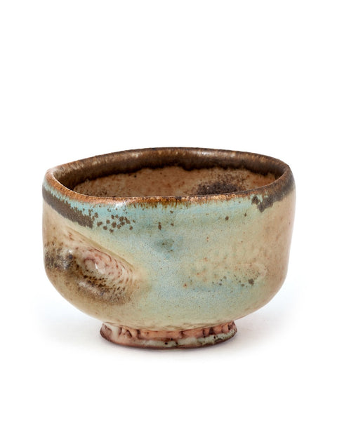 Small wheel thrown shino glazed cup anagama wood-fired by Chris Gustin.