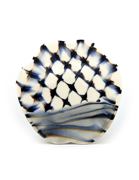Handmade porcelain plate by Sean O'Connell