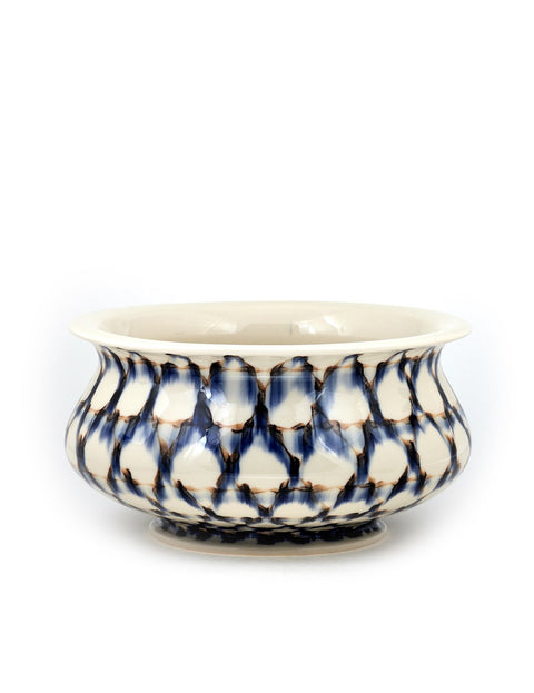 Handmade porcelain serving bowl by Sean O'Connell