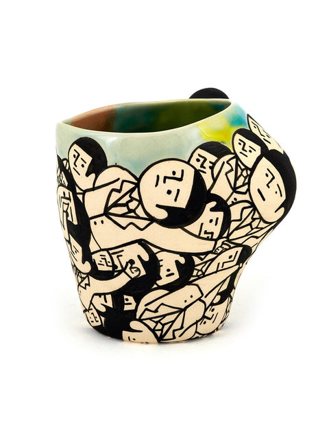 Handmade illustrated cup/teabowl by En Iwamura