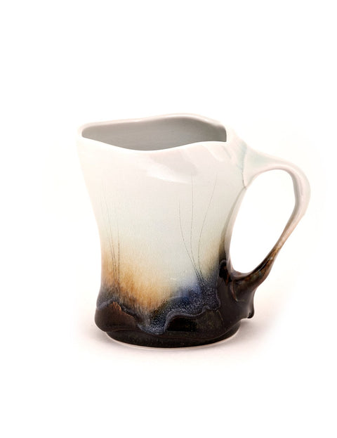 Handmade glazed porcelain mug by Noel Bailey