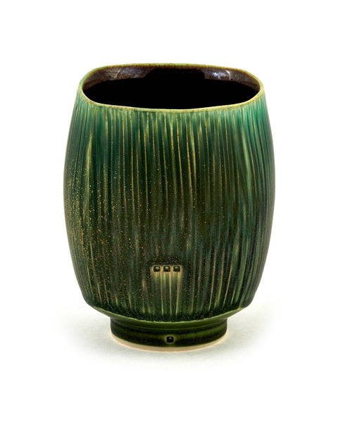Glazed cup handmade by Nick DeVries