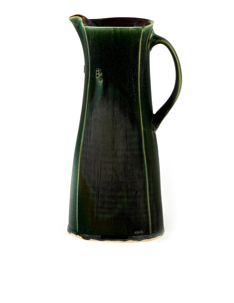 Glazed pitcher handmade by Nick DeVries