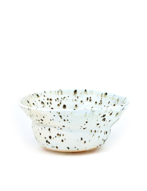 Wood-fired porcelain noodle bowl handmade by Perry Haas