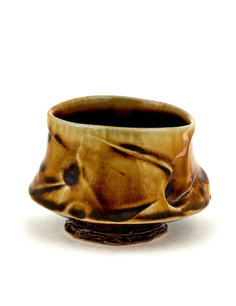 Wheelthrown wood-fired teabowl/cup by Doug Jeppesen