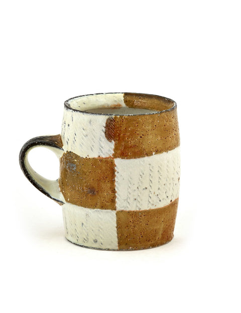 Handmade soda-fired coffee mug by Bill Wilkey