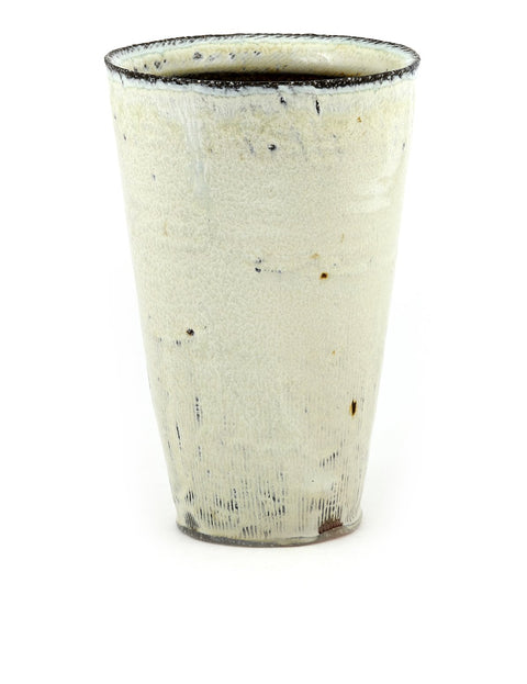Handmade soda-fired cup/tumbler by Bill Wilkey