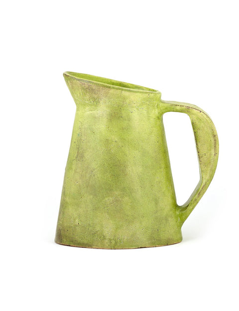 Handmade terra cotta pitcher by Joe Pintz