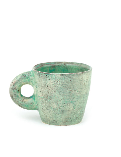 Handmade terra cotta mug by Joe Pintz