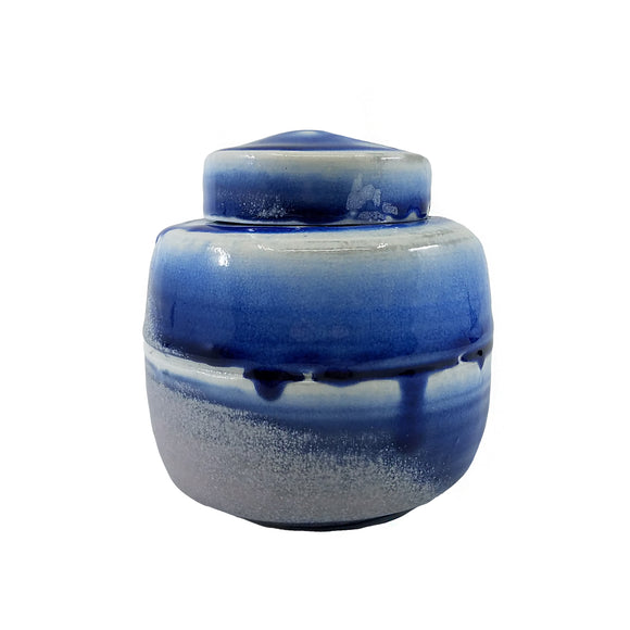 Blue Covered Jar