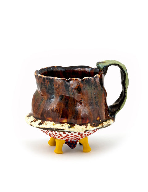 Handmade glazed porcelain mug/cup by Nick Weddell