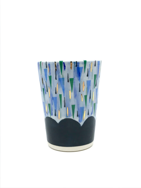 Handmade decorated cup by Margaret Haden