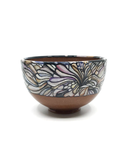 Handmade illustrative bowl by Christina Gola