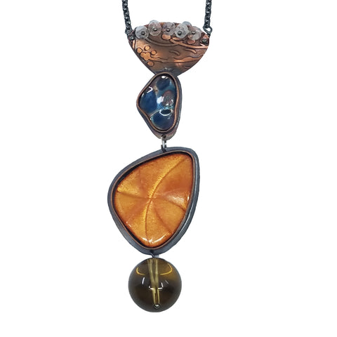 Warm Tone Molecular Necklace