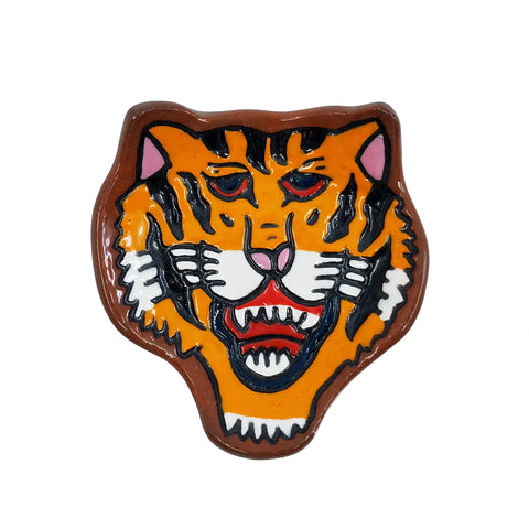 Orange Tiger Trinket Dish