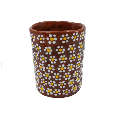 Brown Daisy Cup