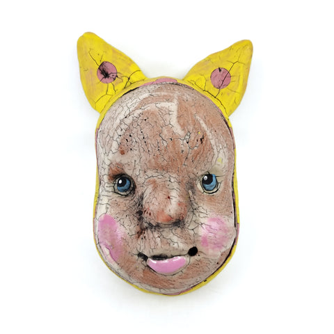 Yellow Masked Doll Head (Ears)