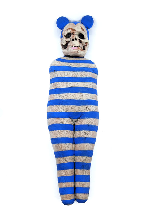 Skull Doll Blue/White