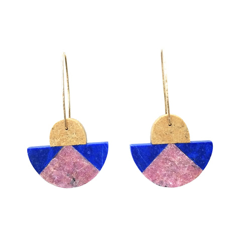Tri Color Earrings