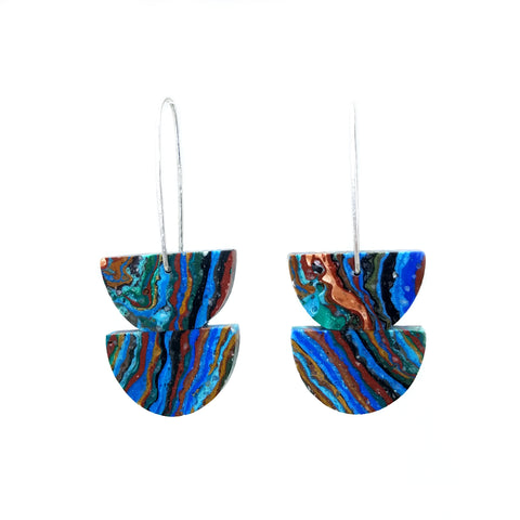 Double Rainbow Calsilica Earrings