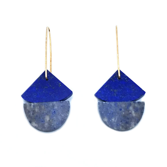 Double Lapis Earrings
