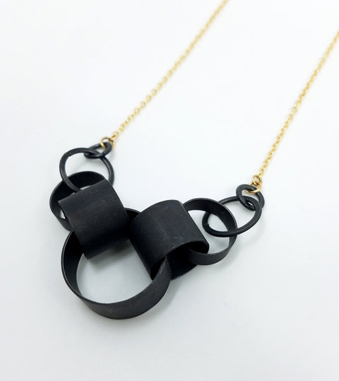 Graduated Chain Section Necklace