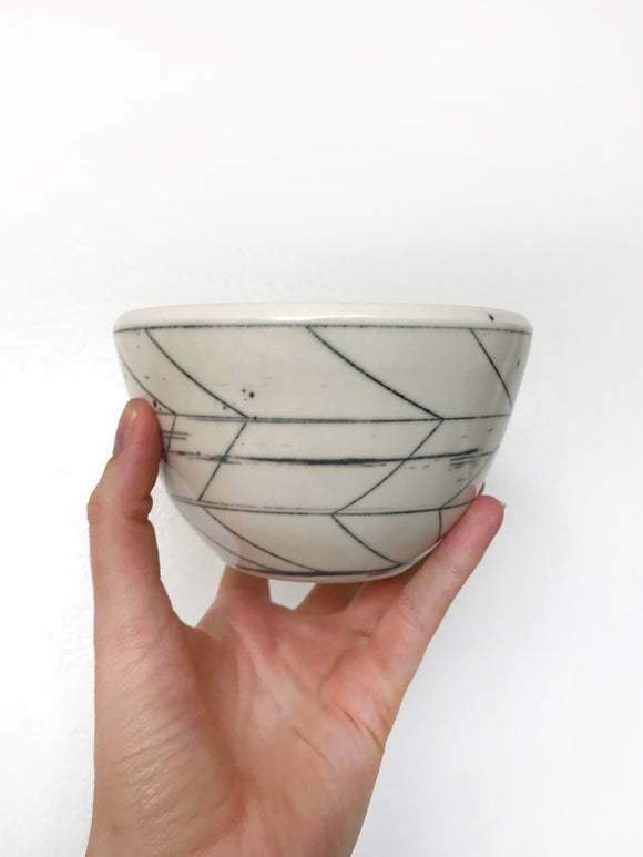 White Dot Dessert Bowl 15