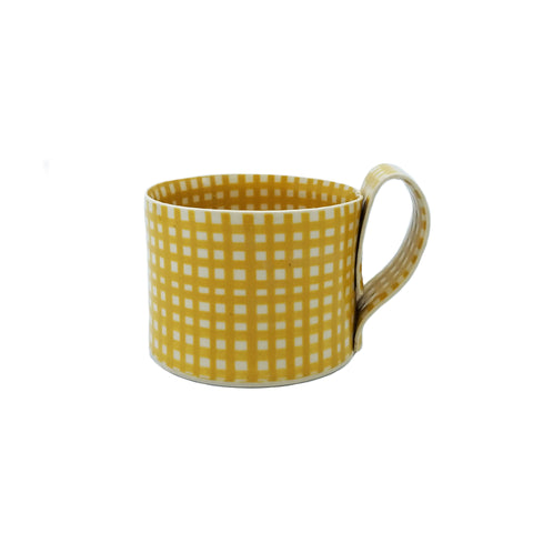 Yellow Gingham Mug