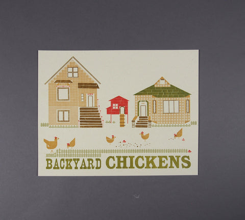 Backyard Chickens Print
