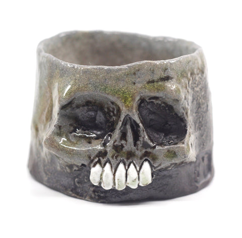 Skull Whiskey Sipper with Porcelain Teeth