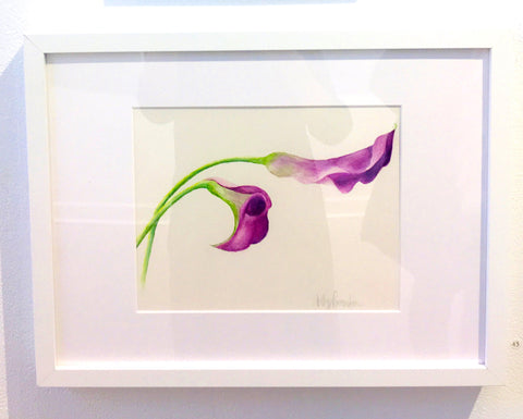 Calla Lillies Framed Watercolor