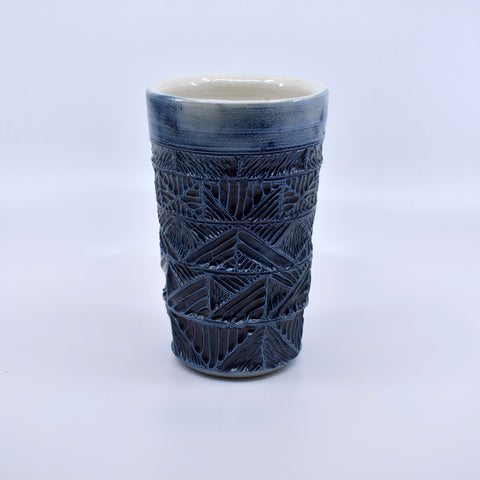 Cobalt Carved Tumbler