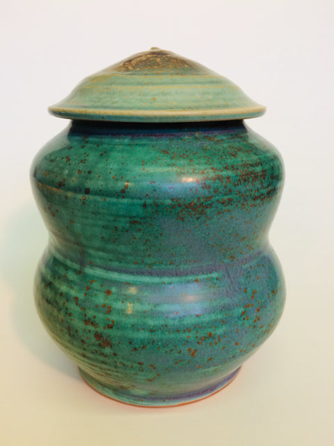 Covered Jar Green