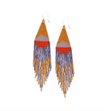 Desert Sunrise Beaded Earrings