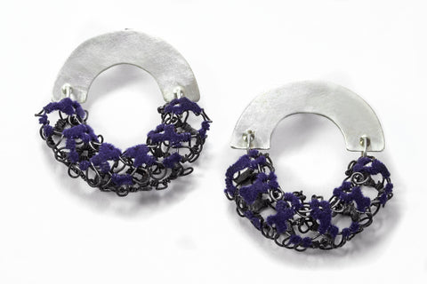 Steel Tube Lace Hoops - Violet