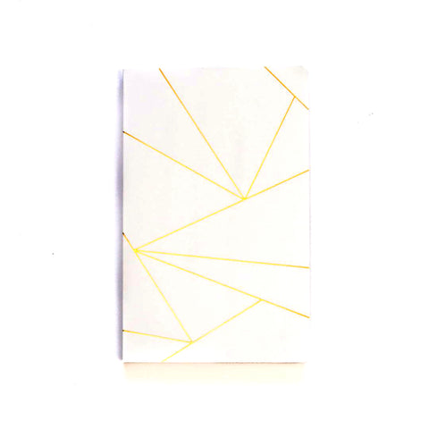 Geo White Notebook - Lined or Blank
