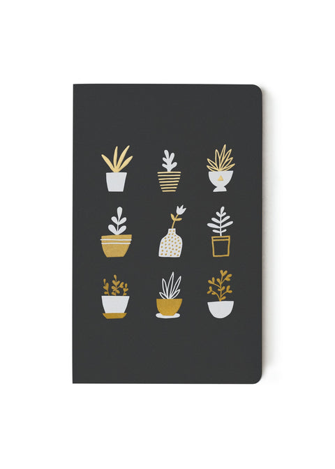 Gold Plants Notebook - Lined or Blank