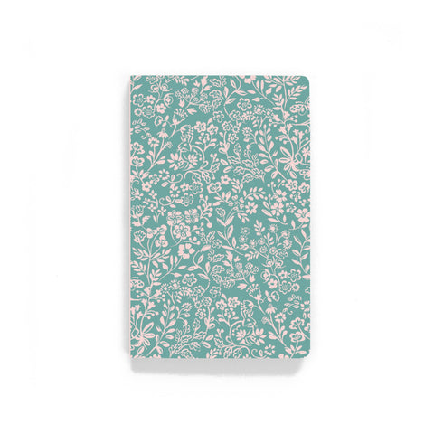 Green Meadow Bunnies Notebook - Lined or Blank