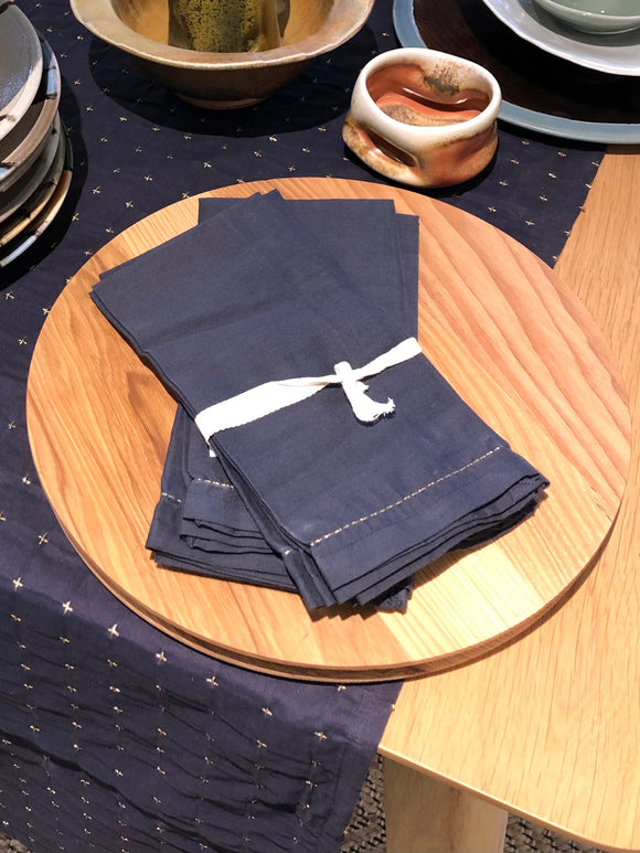 Navy Napkin Set