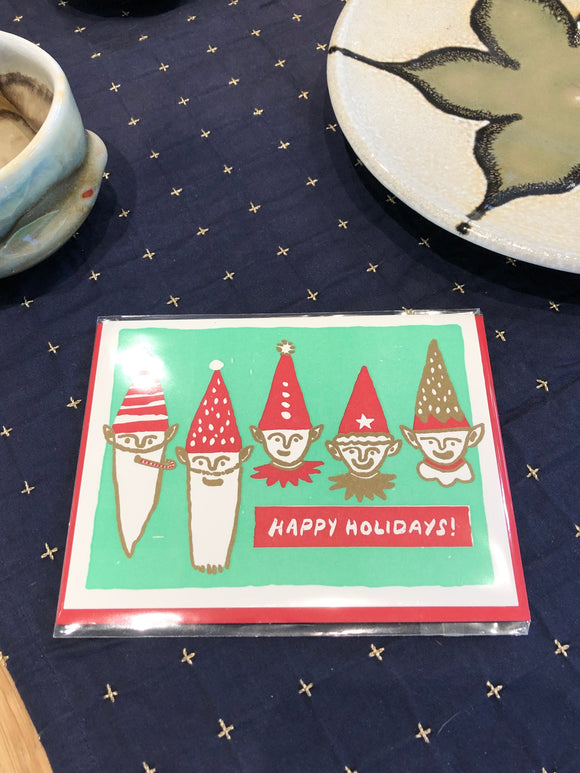 Happy Holiday Elves Card