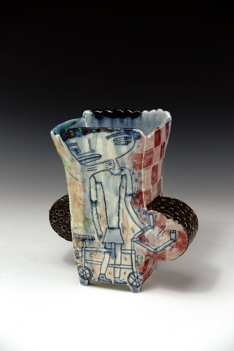 Handmade porcelain vessel by Kevin Snipes