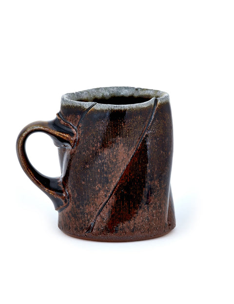 soda fired porcelain mug handmade by kyle johns