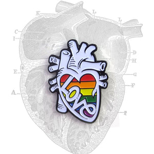 Love is Love Anatomical Heart Pin