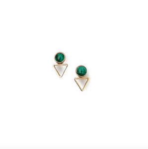 Malachite Tiny Elder Studs