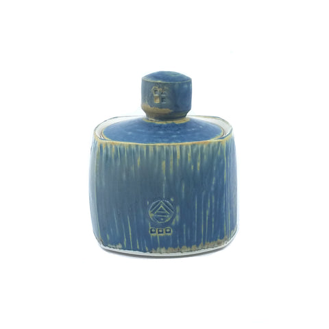 Small Blue Square Jar