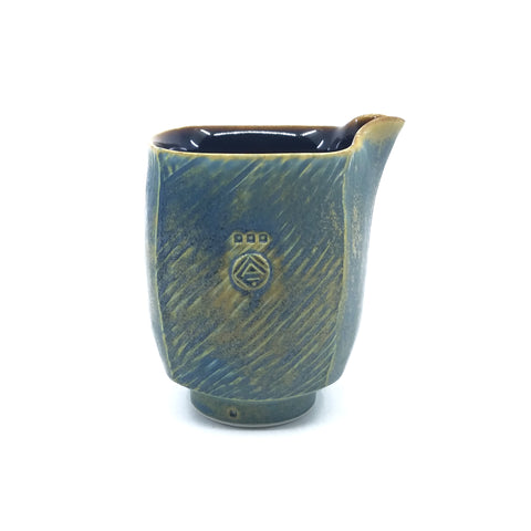 Small Blue Square Creamer