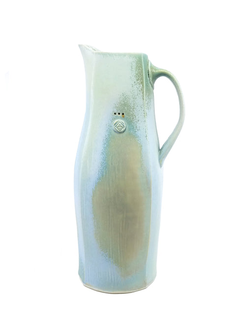 Blue & White Square Pitcher