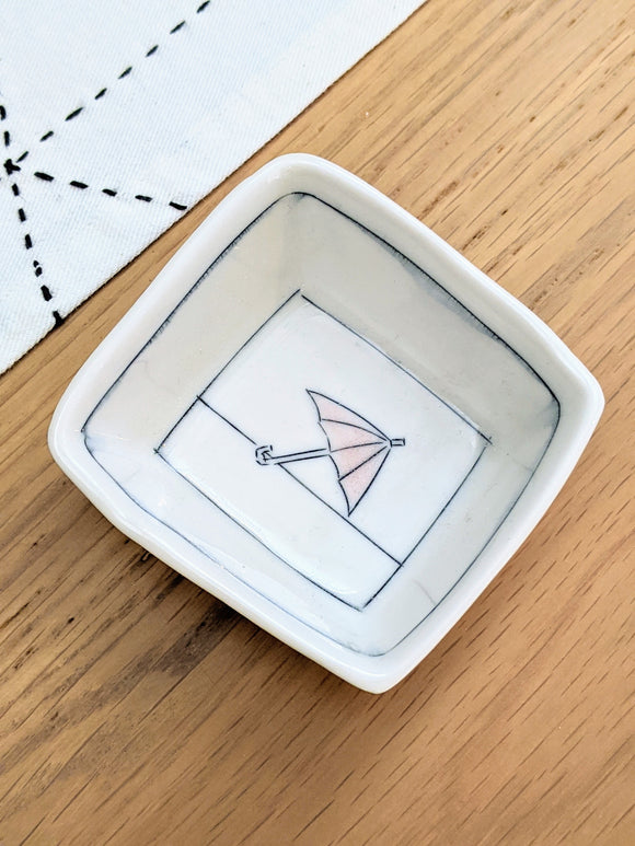 Umbrella Tiny Square Dish