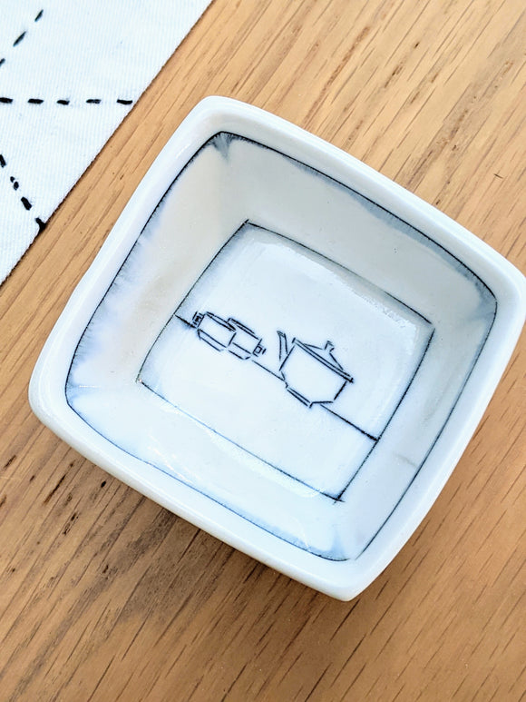 Tea Tiny Square Dish